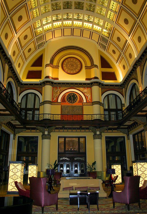 Clock Photograph - Union Station Lobby-large Size by Kristin Elmquist