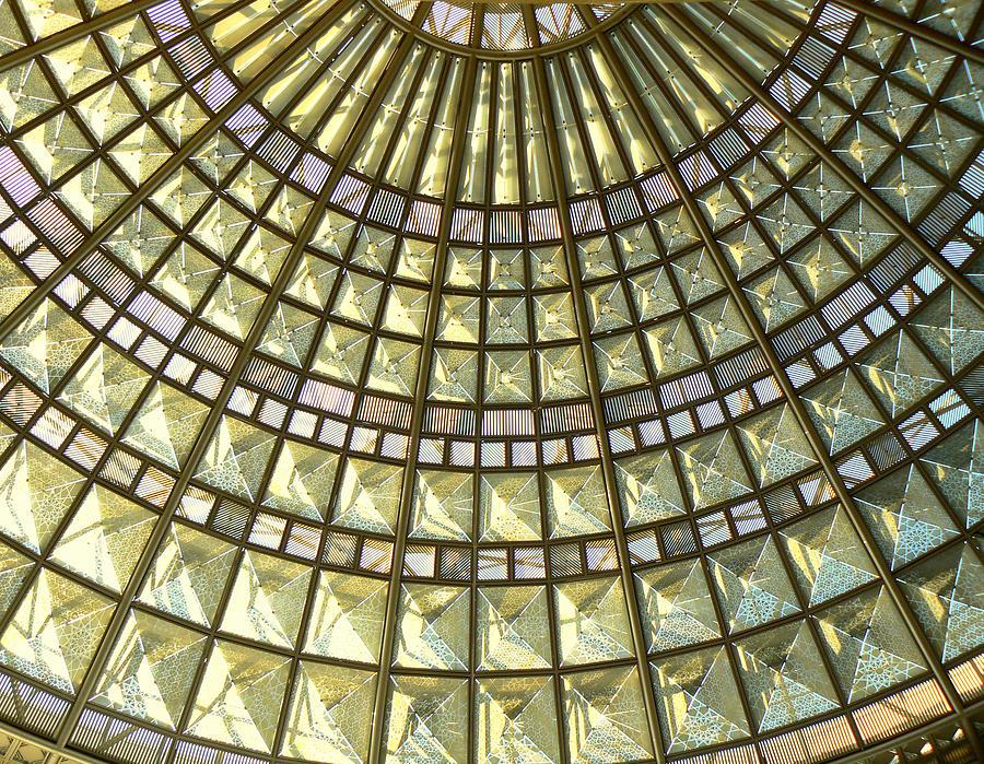 Geometric Abstract Photograph - Union Station Skylight by Karyn Robinson