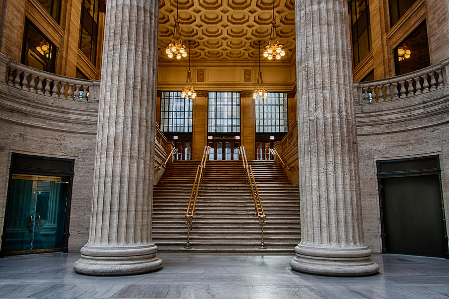 Union Station Photograph - Union Station Stairs by Mike Burgquist