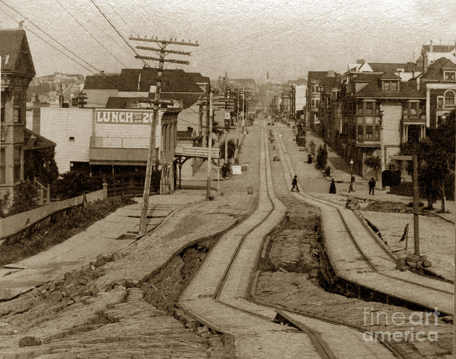 san francisco photograph union street san francisco earthquake and fire of april 18 1906 by