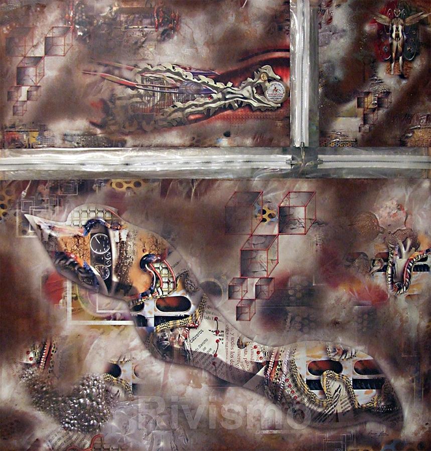 Ramon Rivas Painting - Uniones Dentadas by Ramon Rivas - Rivismo