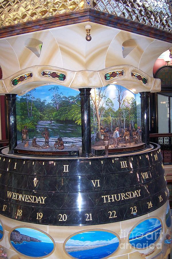 Sydney Photograph - Unique Clock In Sydney Mall by John Potts