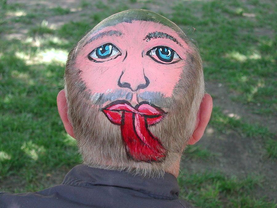Bald Photograph - Unique Hair Piece by Pat Knieff