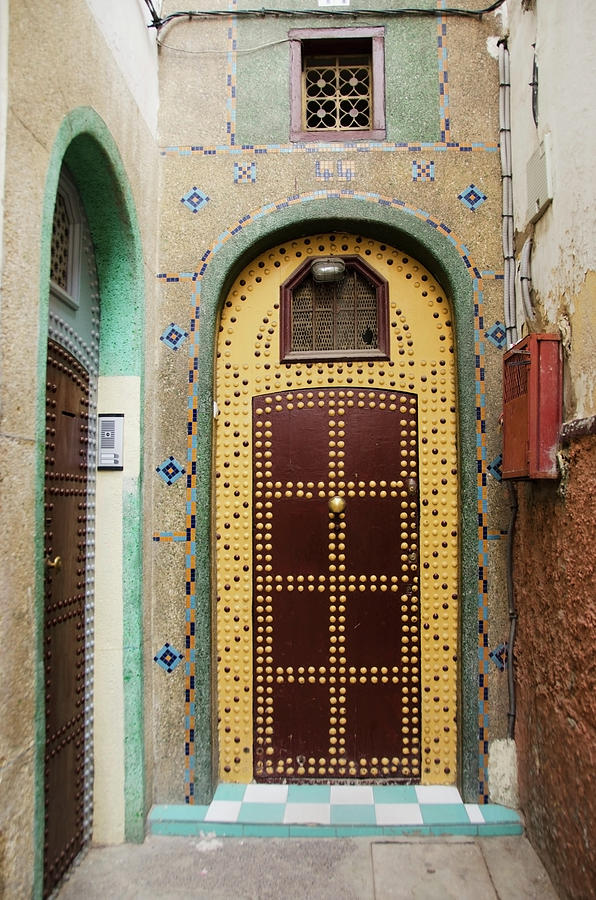 Uniquely Decorated Door With An Arch Photograph by Diane Levit / Design Pics