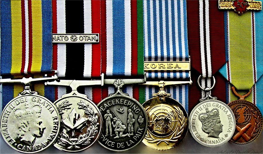 Hamilton Photograph - United Nations Peacekeeping Korean War Nato Medals by Danielle  Parent