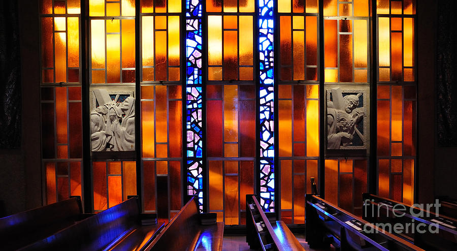 Chapel Photograph - United States Air Force Academy Cadet Chapel Detail by Vivian Christopher