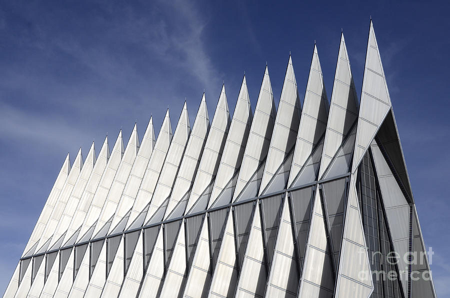 United States Air Force Academy Chapel Photograph - United States Airforce Academy Chapel Colorado by Bob Christopher