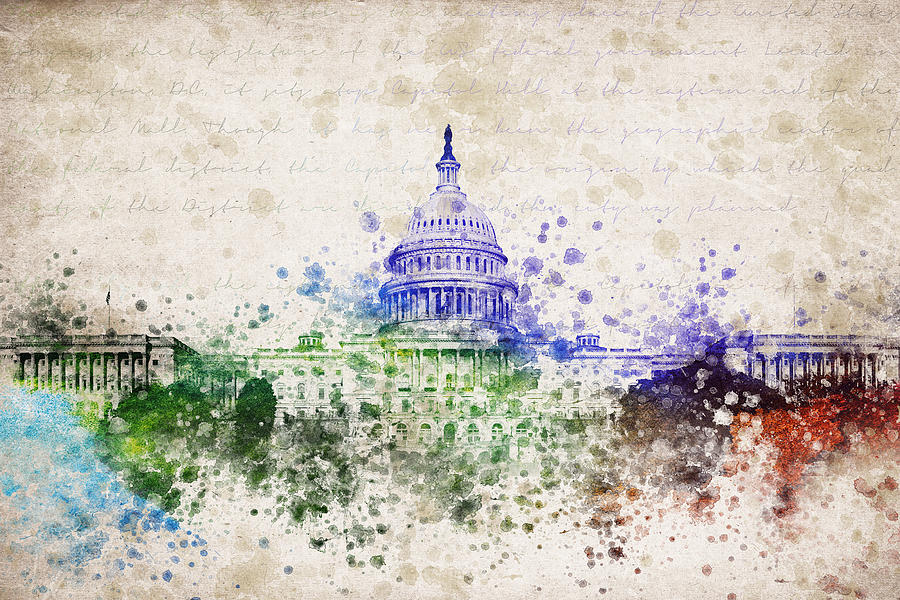 United States Capitol Digital Art - United States Capitol by Aged Pixel