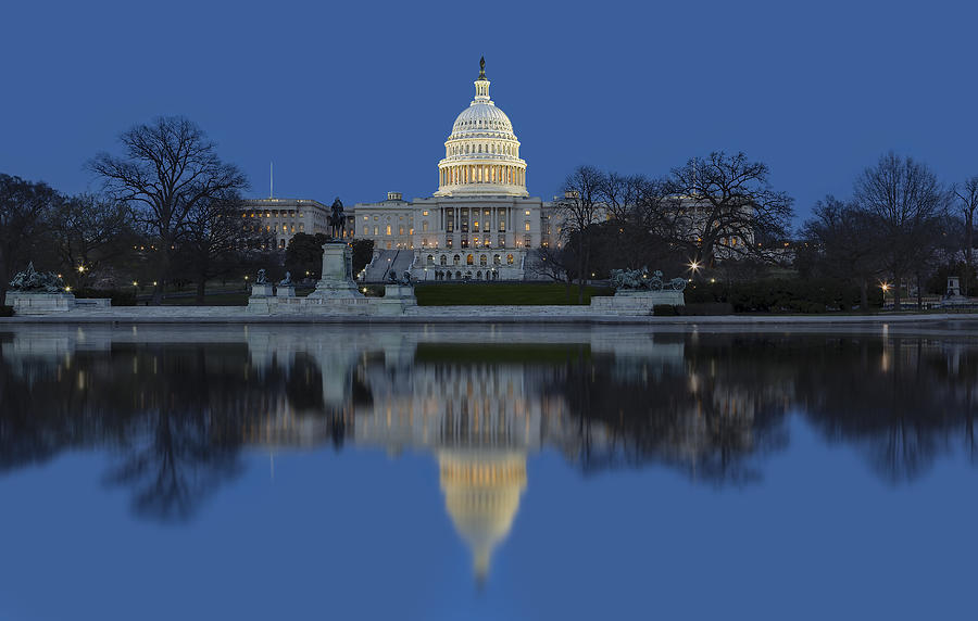 Capitol Hill Photograph - United States Capitol Building by Susan Candelario