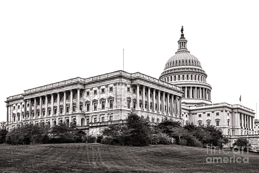 Washington Photograph - United States Capitol Senate Wing by Olivier Le Queinec