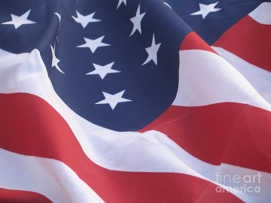 Photography Photograph - United States Flag  by Chrisann Ellis
