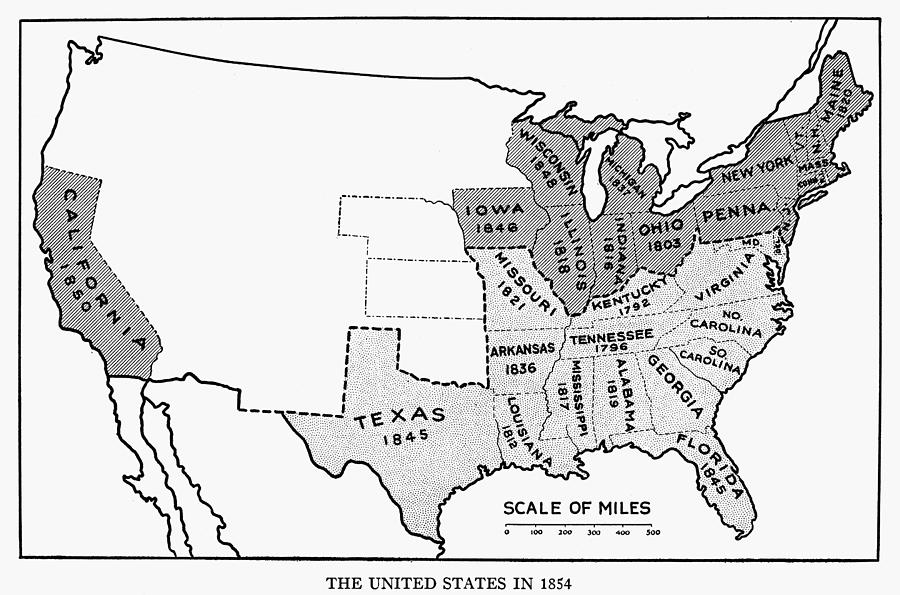 United States Map, 1854 on europe map 1837, united states territories 1798 to 1846, new york map 1837, texas map 1837, canada map 1837, united states congressional districts,