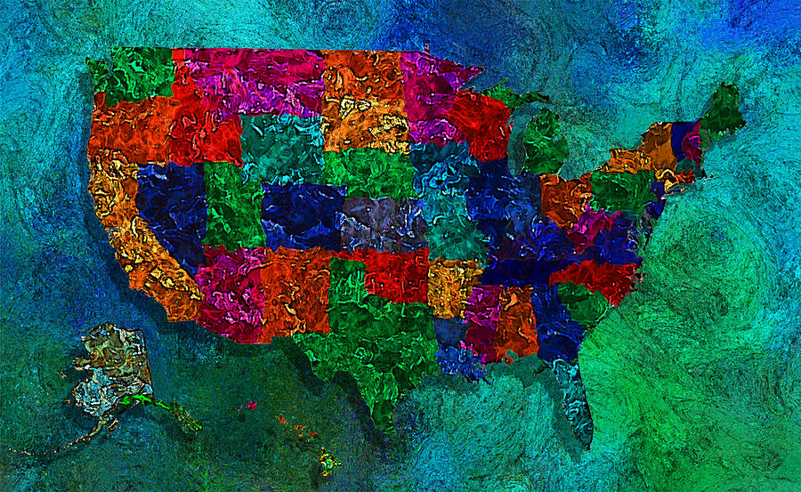 united states map painting United States Map Painting By Jack Zulli