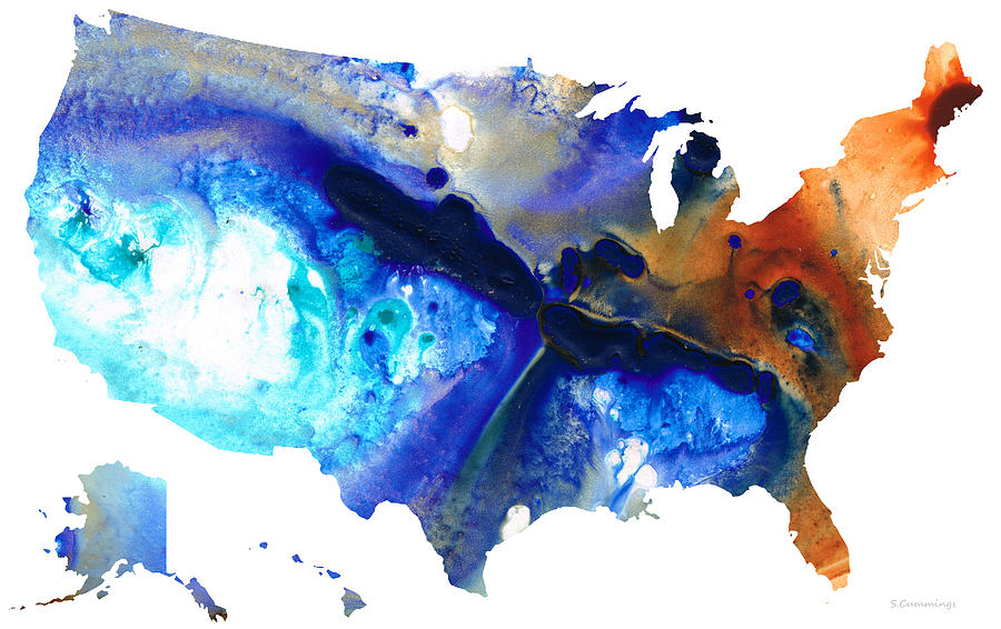United States Of America Map 7 - Colorful Usa