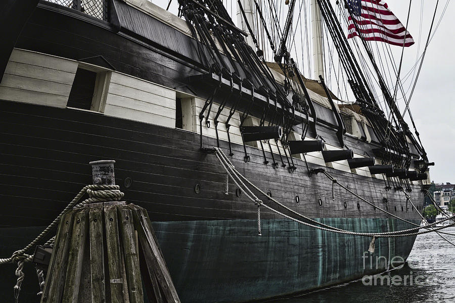 American Flag Photograph - United States Ship Constellation by George Oze