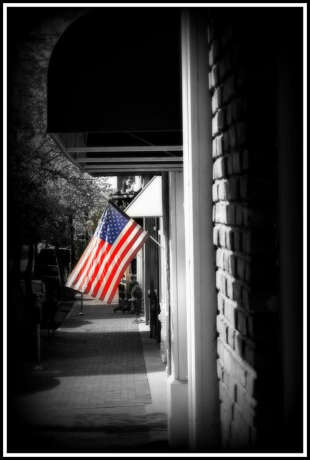 Flag Photograph - United We Stand by Shannon Wall