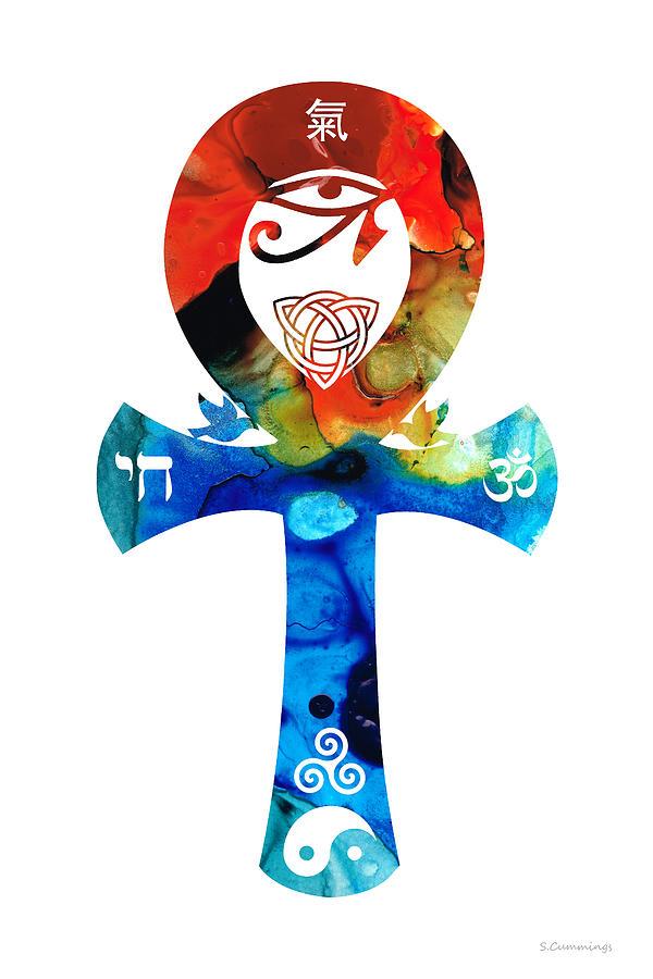 Unity Painting - Unity 16 - Spiritual Artwork by Sharon Cummings