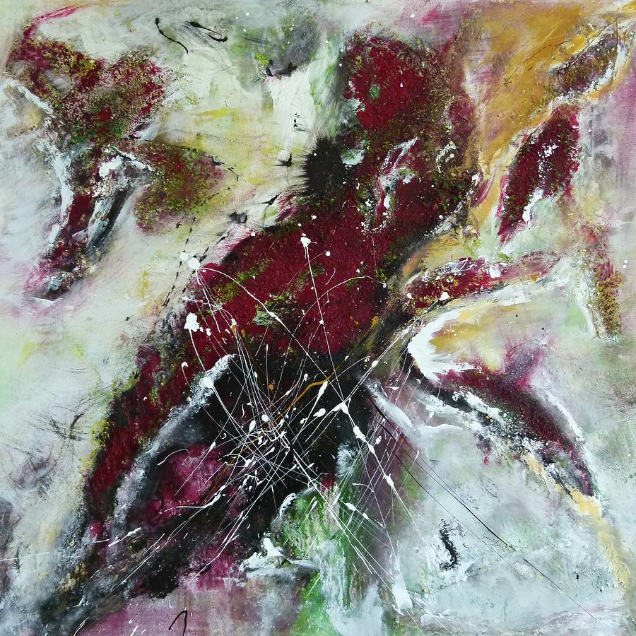 Painting Painting - Universe- Abstract Art by Ismeta Gruenwald