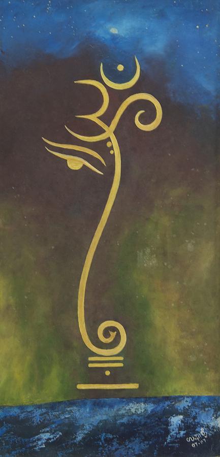 Religious Painting - Universe by Usha Rai