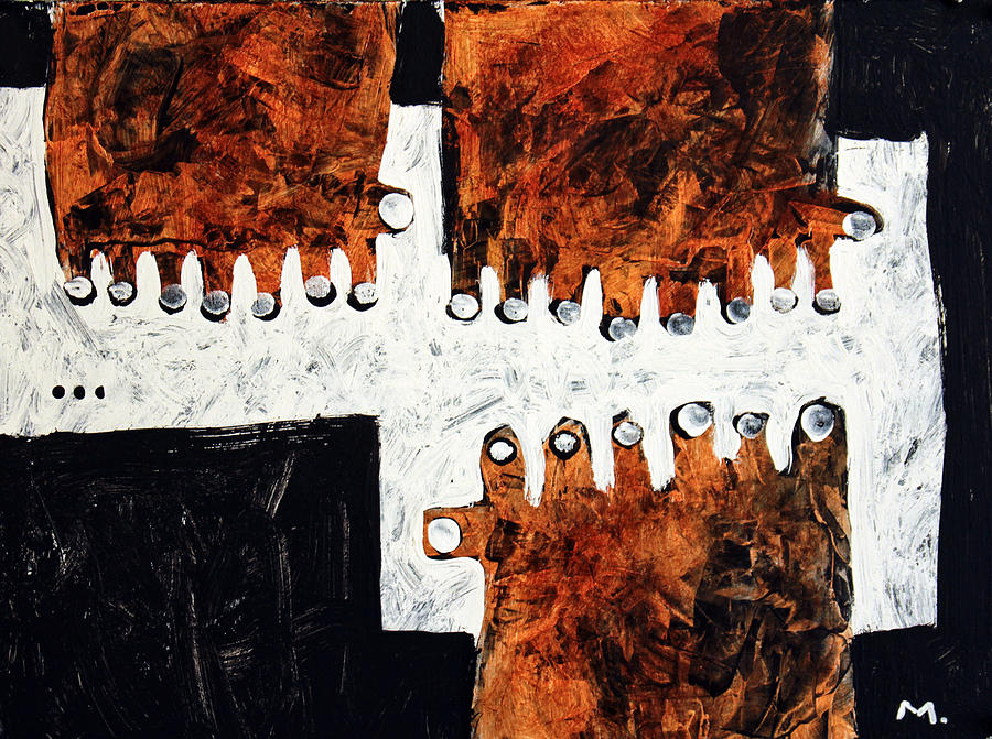 Hands Painting - Universi No. 6 by Mark M  Mellon