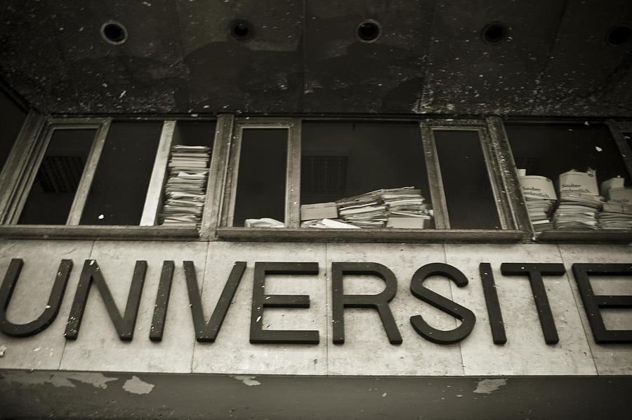 University Photograph - Universite by Marta Grabska-Press