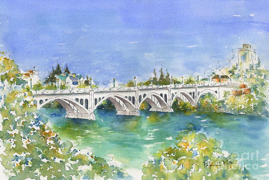 Impressionism Painting - University Bridge by Pat Katz