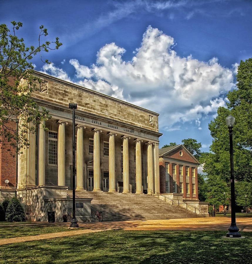 University Of Alabama Photograph - University of Alabama Library by Mountain Dreams
