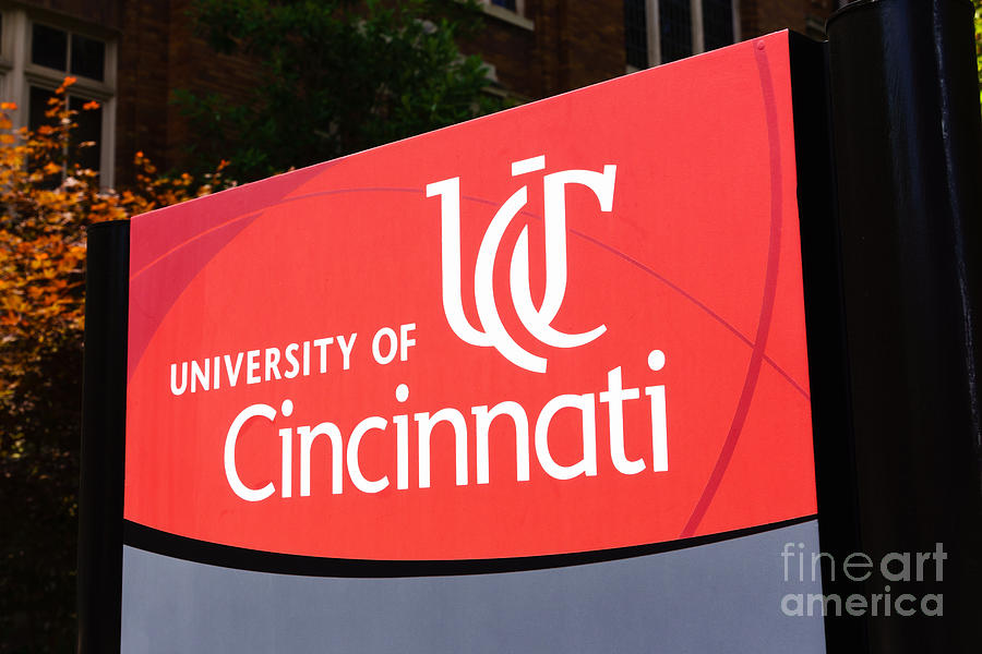 America Photograph - University Of Cincinnati Sign by Paul Velgos