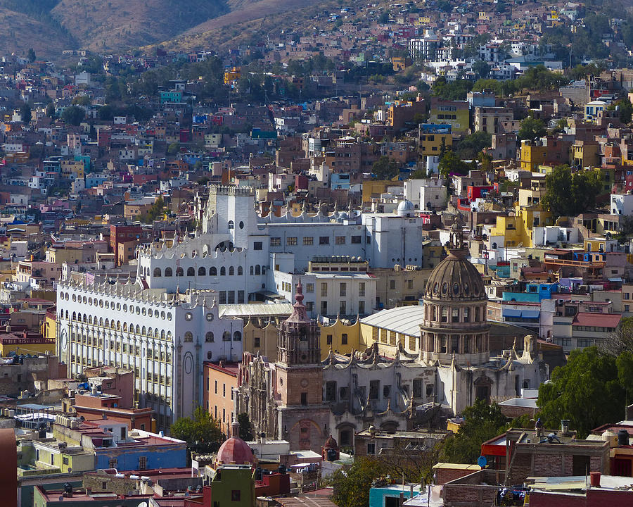 Mexico Photograph - University Of Guanajuato by Douglas J Fisher