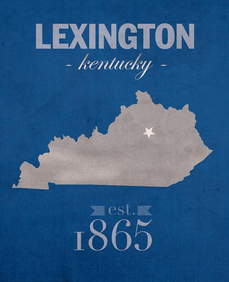 University Of Kentucky Wildcats Lexington Kentucky College Town State Map  Poster Series No 054