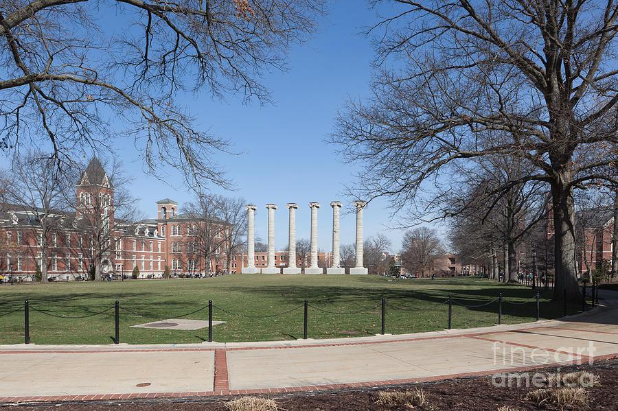 Mizzou Photograph - University Of Missouri Quad by Kay Pickens