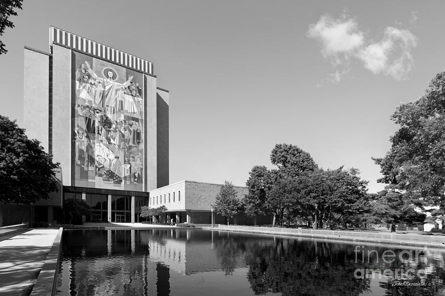 Big East Conference Photograph - University Of Notre Dame Hesburgh Library by University Icons