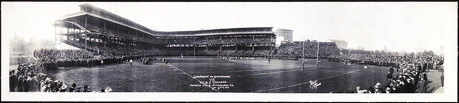 University Of Pittsburgh Photograph - University Of Pittsburgh Vs W And J College Forbes Field Pittsburgh Pa 1915 by Bill Cannon