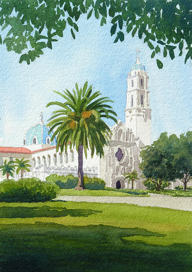Usd Painting - University Of San Diego by Mary Helmreich