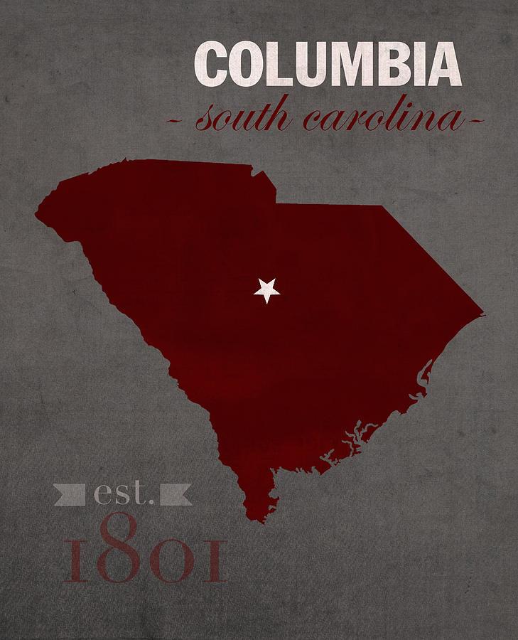 South Carolina Home Decor South Carolina Art Columbia Sc: University Of South Carolina Gamecocks Columbia College