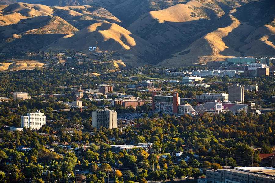 University Of Utah Photograph - University Of Utah Campus by Utah Images