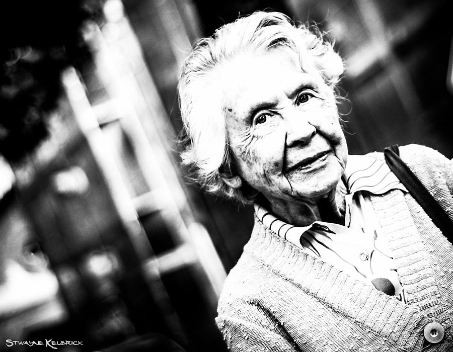 Portrait Photography Photograph - Unknown Grandma by Stwayne Keubrick
