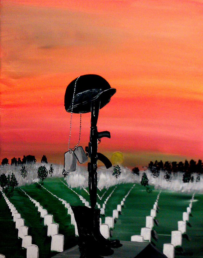 National Cemetery Painting - Unknown Hero by Mark Moore