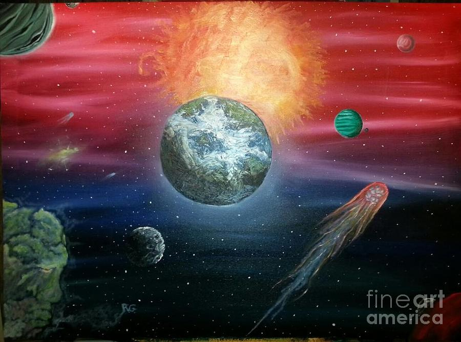 Space Painting - Unknown by Rick  Gazdik