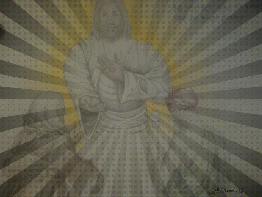 Jesus Drawing - Unlimited Mercy by Edward Cormier Jr