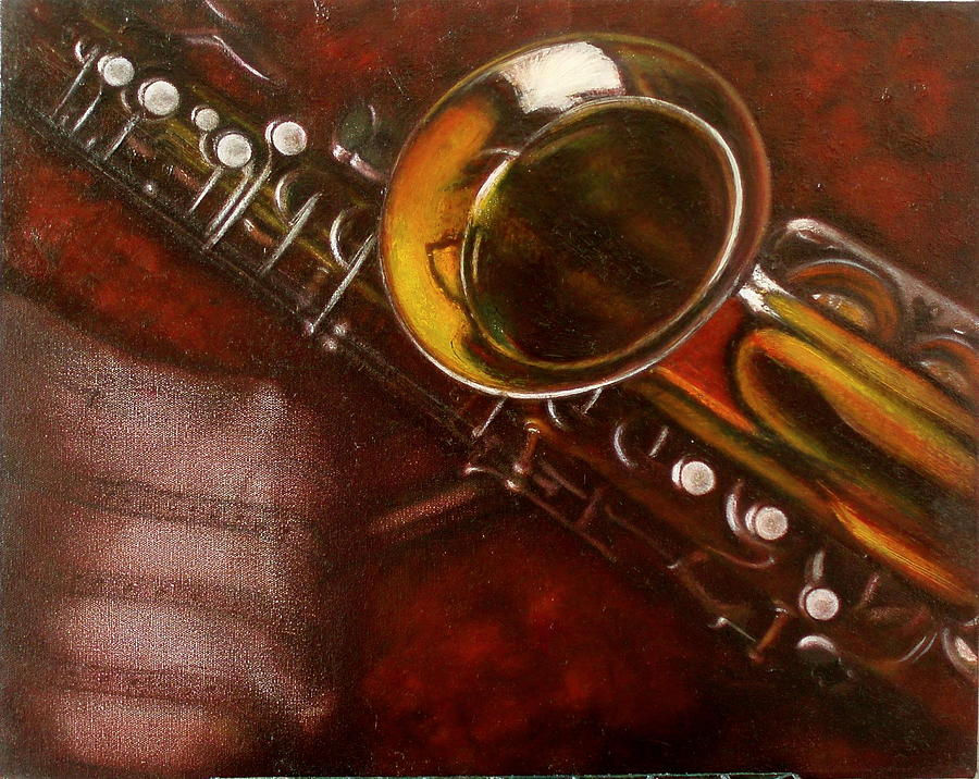 Still Life Painting - Unprotected Sax by Sean Connolly