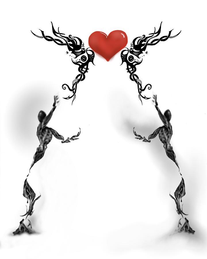Heart Digital Art - Unreachable by Corina Bishop