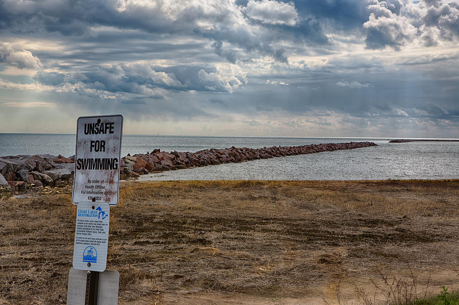 Canon Photograph - Unsafe For Swimming by Ricky L Jones