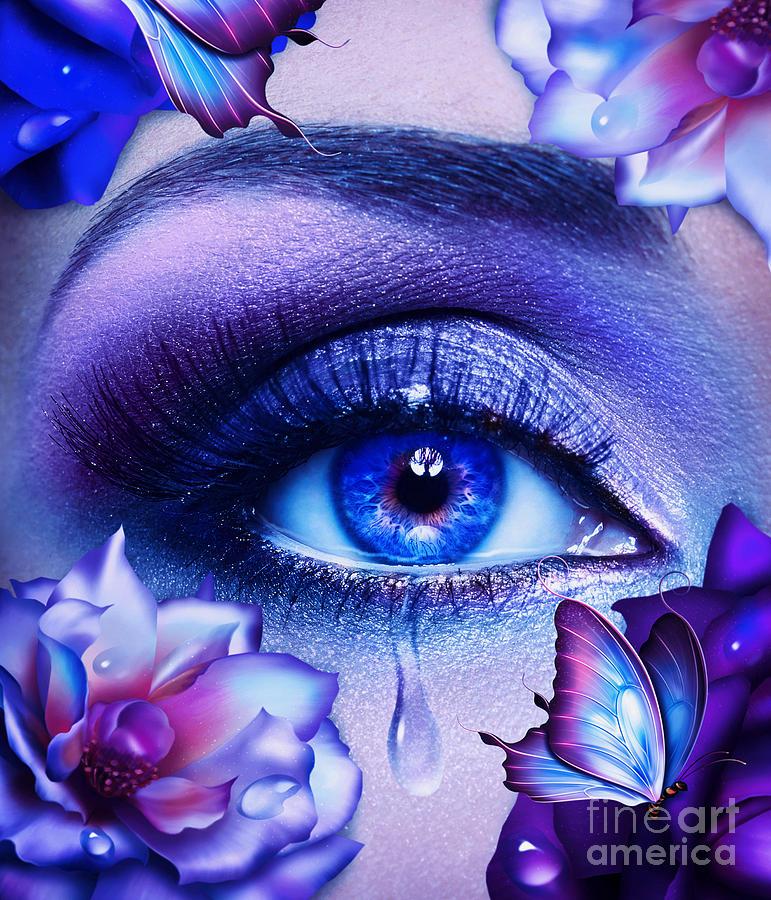 Unseen Tears Digital Art By Jessica Allain