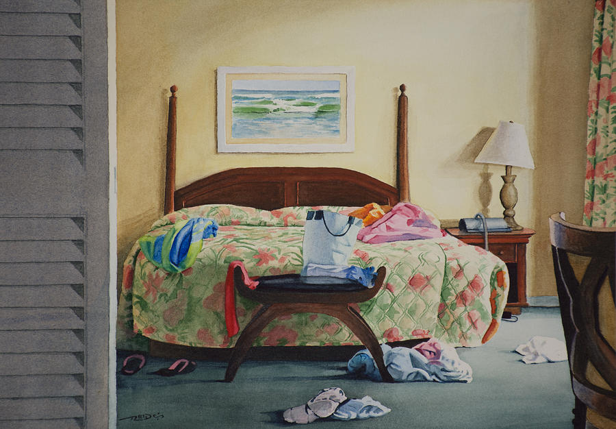 America Painting - Unslept In by Christopher Reid