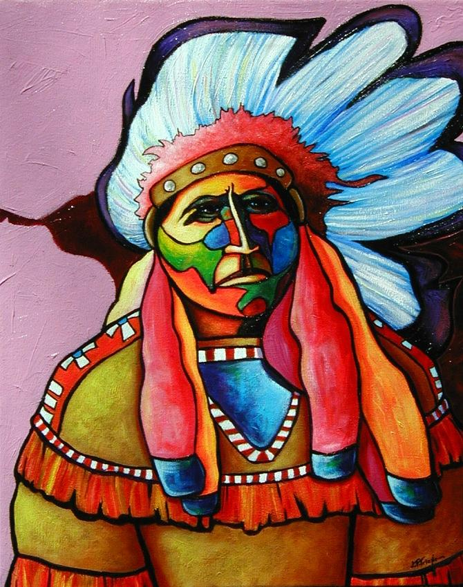 American Indian Painting - Until Im Breathless by Joe  Triano