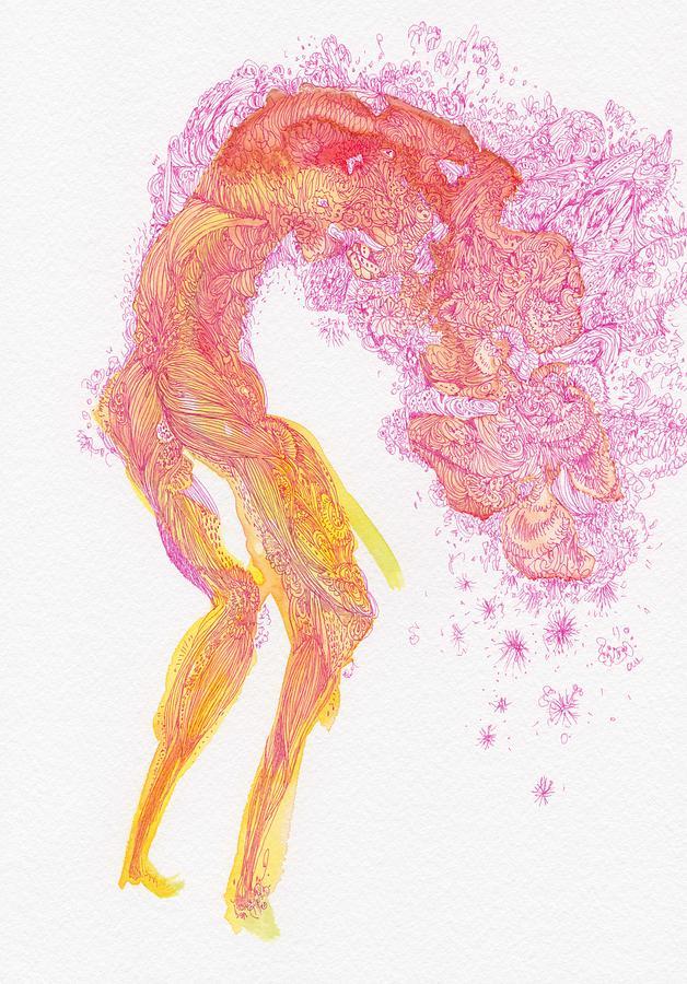Organic Drawing - Untitled - #ss14dw083 by Satomi Sugimoto