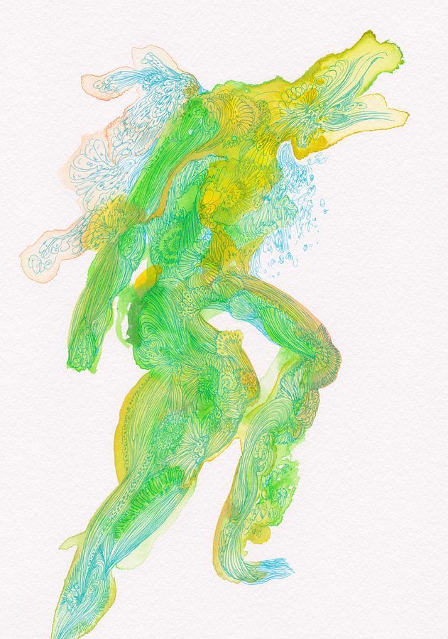 Organic Drawing - Untitled -  #ss14dw088 by Satomi Sugimoto