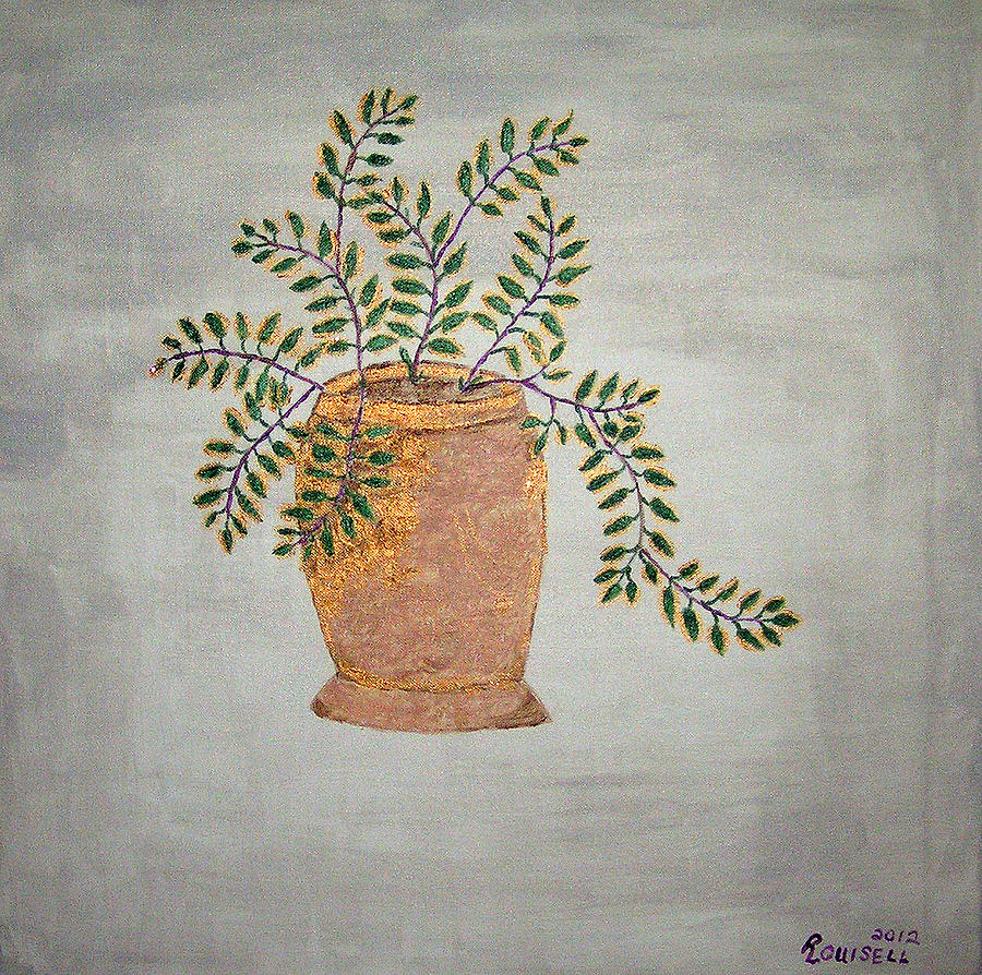 Plant Painting - Untitled 23 by Robyn Louisell