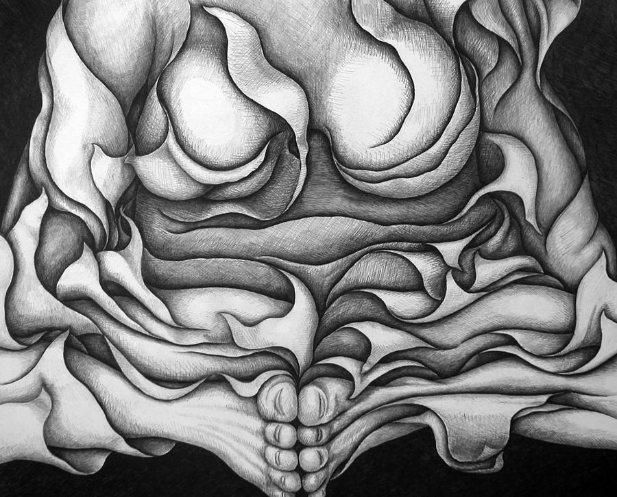 Black Drawing - Untitled 26 by Diana Durr